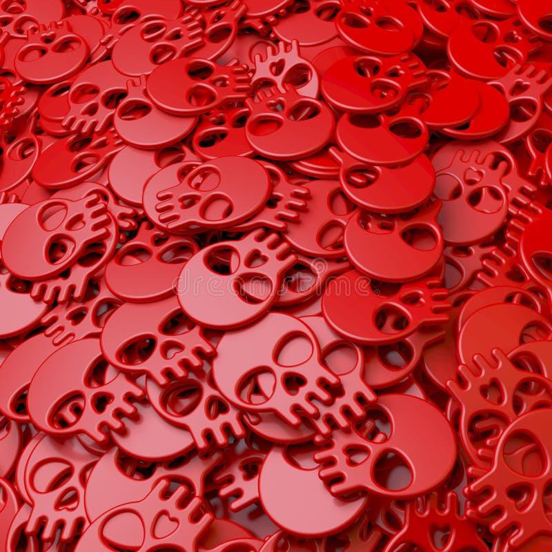 Σωρός, λίμνη, συστάδα των κόκκινων κρανίων ελεύθερη απεικόνιση δικαιώματος