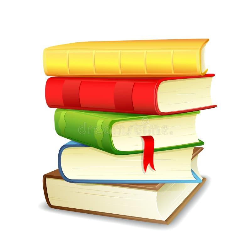σωρός βιβλίων διανυσματική απεικόνιση
