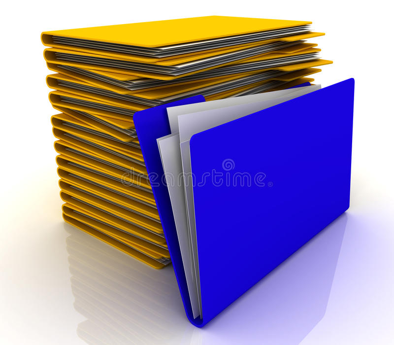 σωρός γραμματοθηκών ελεύθερη απεικόνιση δικαιώματος