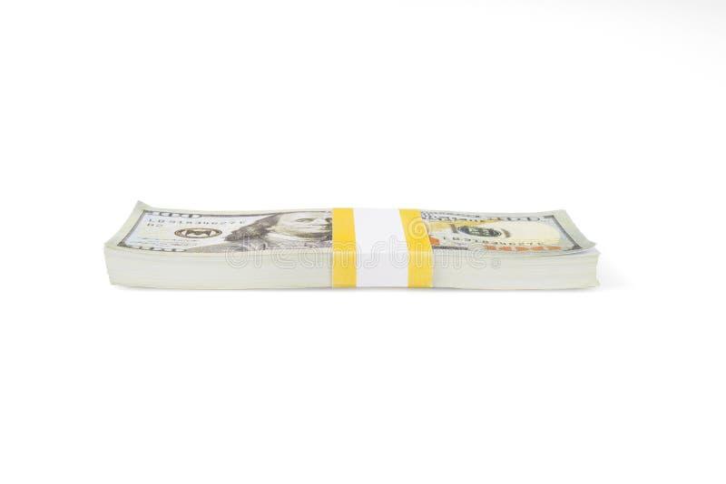 Σωρός εκατό αμερικανικών λογαριασμών δολαρίων στοκ φωτογραφία με δικαίωμα ελεύθερης χρήσης