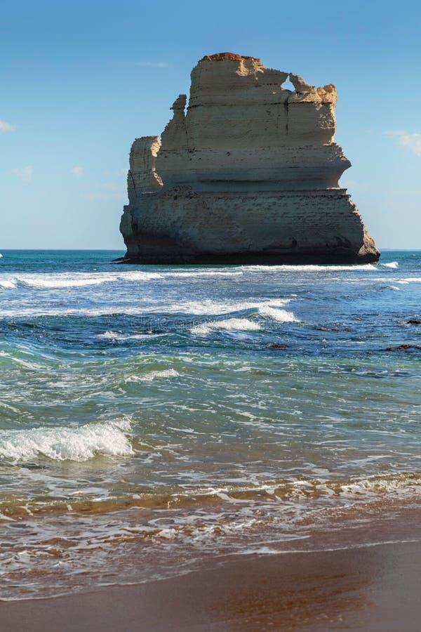 Σωρός θάλασσας στα βήματα Gibsons, δώδεκα απόστολοι, λιμένας Campbell, Βικτώρια, Αυστραλία στοκ εικόνες