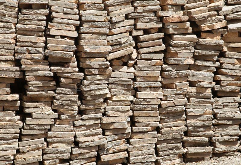 Σωρός κεραμιδιών στεγών στοκ εικόνα με δικαίωμα ελεύθερης χρήσης