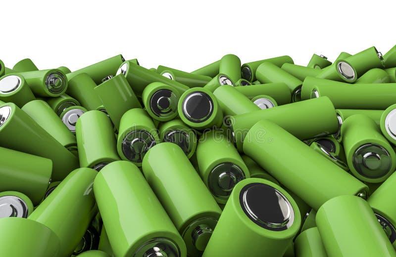 Σωρός μπαταριών διανυσματική απεικόνιση