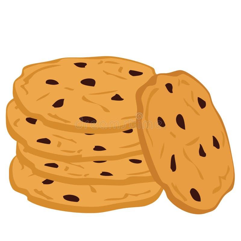 σωρός μπισκότων σοκολάτα& απεικόνιση αποθεμάτων