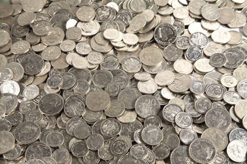 σωρός νομισμάτων μετρητών στοκ φωτογραφία με δικαίωμα ελεύθερης χρήσης
