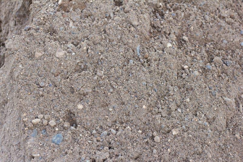 Σωρός της άμμου με το αμμοχάλικο, PGS, μίγμα για την κατασκευή στοκ φωτογραφία με δικαίωμα ελεύθερης χρήσης