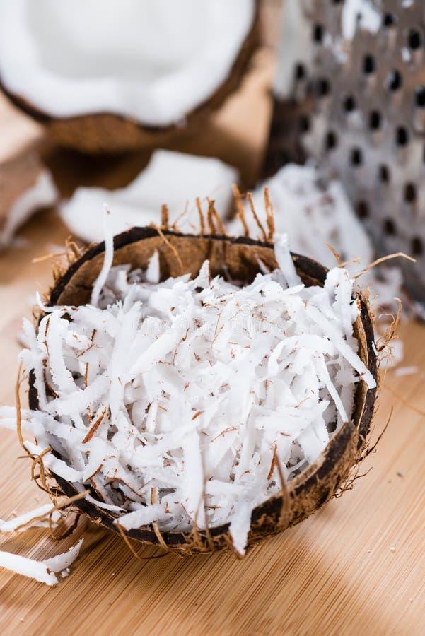 Σωρός της ξυμένης καρύδας στοκ εικόνες με δικαίωμα ελεύθερης χρήσης