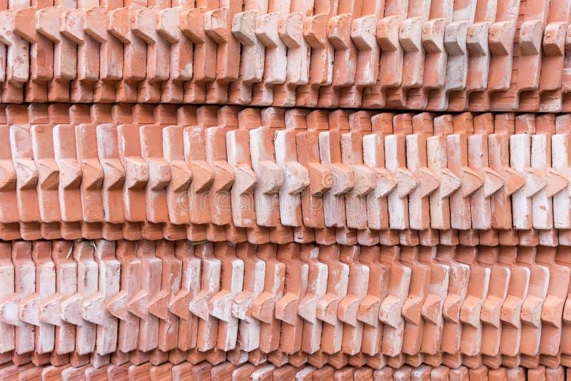 Σωρός της στέγης τούβλου κεραμιδιών στοκ εικόνες