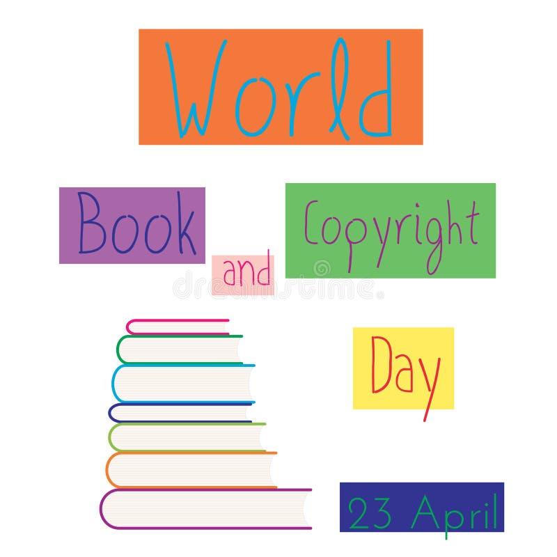 Σωρός της χρωματισμένης διανυσματικής απεικόνισης βιβλίων ελεύθερη απεικόνιση δικαιώματος