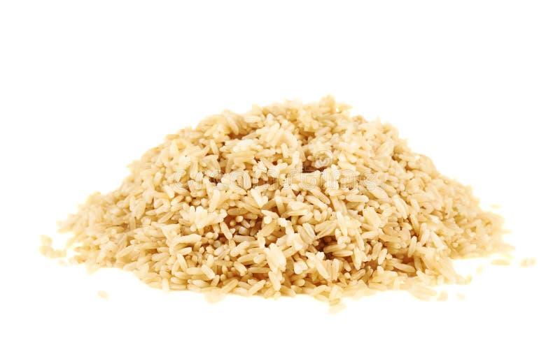 Σωρός του βρασμένου καφετιού ρυζιού στοκ φωτογραφία με δικαίωμα ελεύθερης χρήσης