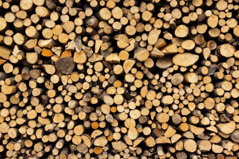 Σωρός του καυσόξυλου στοκ φωτογραφία