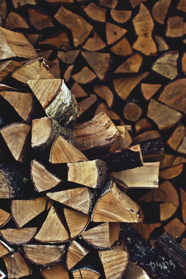 Σωρός του καυσόξυλου στοκ εικόνα