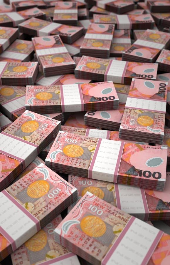 Σωρός του δολαρίου της Νέας Ζηλανδίας διανυσματική απεικόνιση