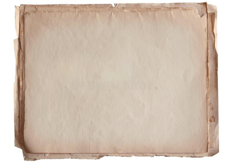 Σωρός του παλαιού εγγράφου που απομονώνεται στο λευκό στοκ εικόνα
