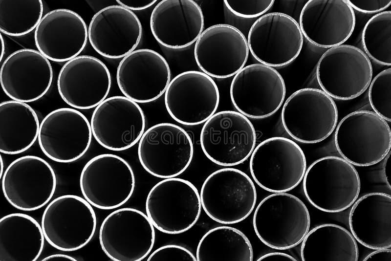 Σωρός του στρογγυλού σωλήνα μετάλλων στοκ φωτογραφία με δικαίωμα ελεύθερης χρήσης