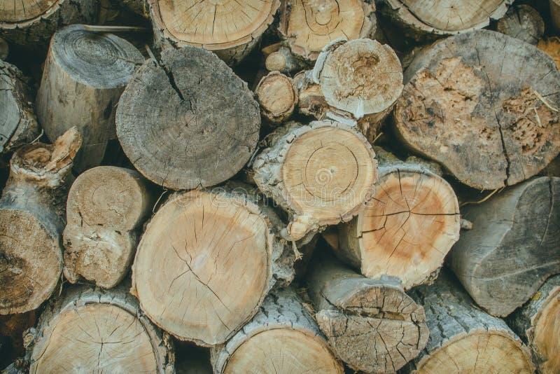 Σωρός του φυσικού ξύλινου υποβάθρου κούτσουρων στοκ φωτογραφίες με δικαίωμα ελεύθερης χρήσης