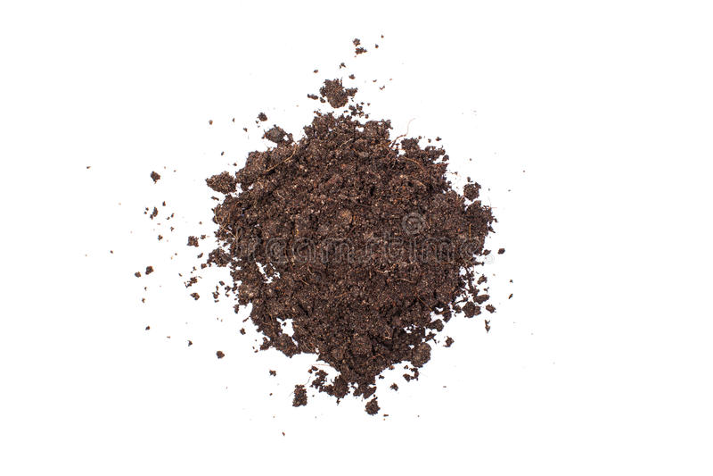 Σωρός του χώματος που απομονώνεται στο άσπρο υπόβαθρο στοκ φωτογραφίες