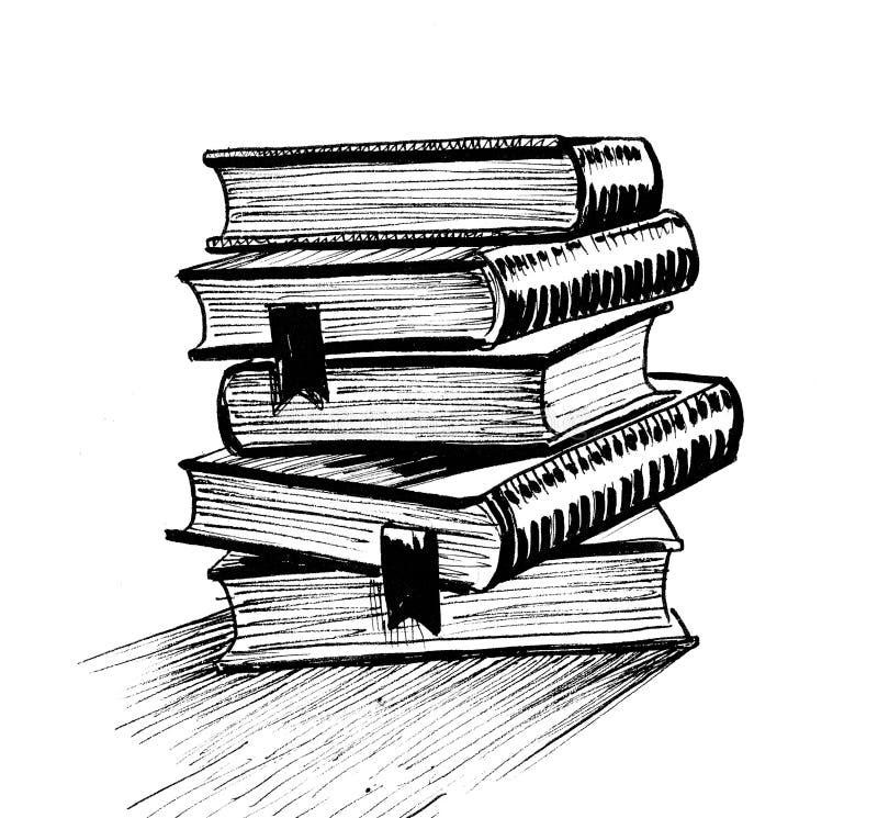 Σωρός των βιβλίων ελεύθερη απεικόνιση δικαιώματος