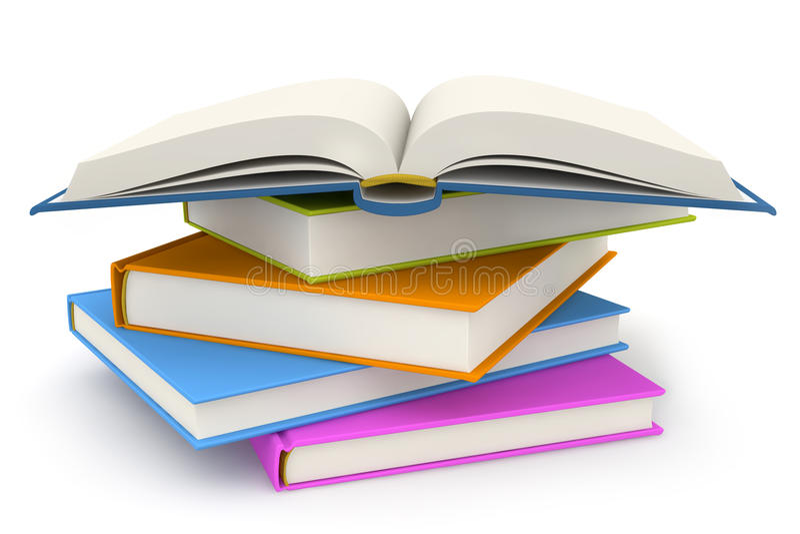 Σωρός των βιβλίων απεικόνιση αποθεμάτων