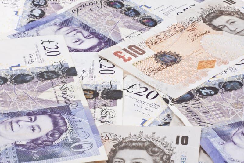 Σωρός των βρετανικών λιβρών χρημάτων στοκ φωτογραφία με δικαίωμα ελεύθερης χρήσης