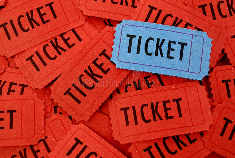 Σωρός των εισιτηρίων στοκ εικόνες με δικαίωμα ελεύθερης χρήσης
