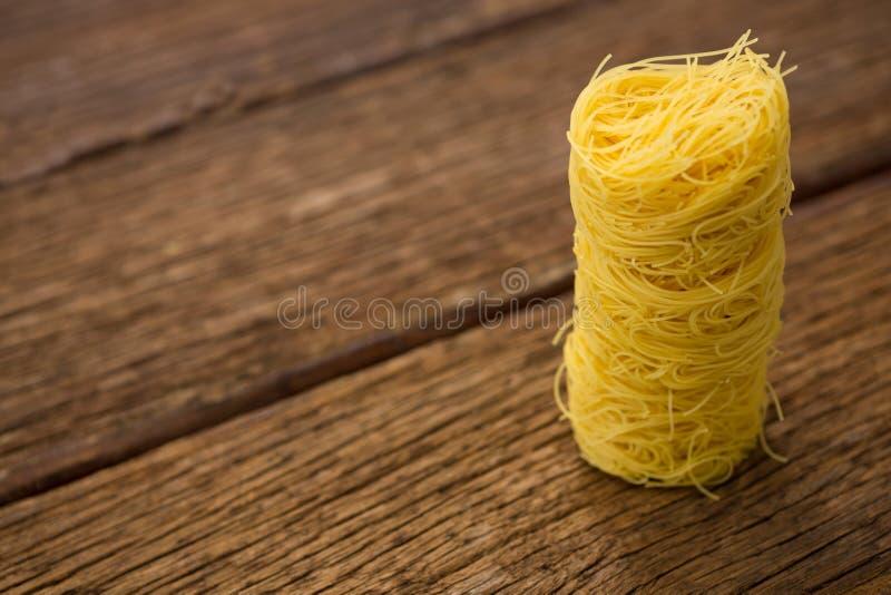 Σωρός των ζυμαρικών capellini στοκ εικόνα με δικαίωμα ελεύθερης χρήσης