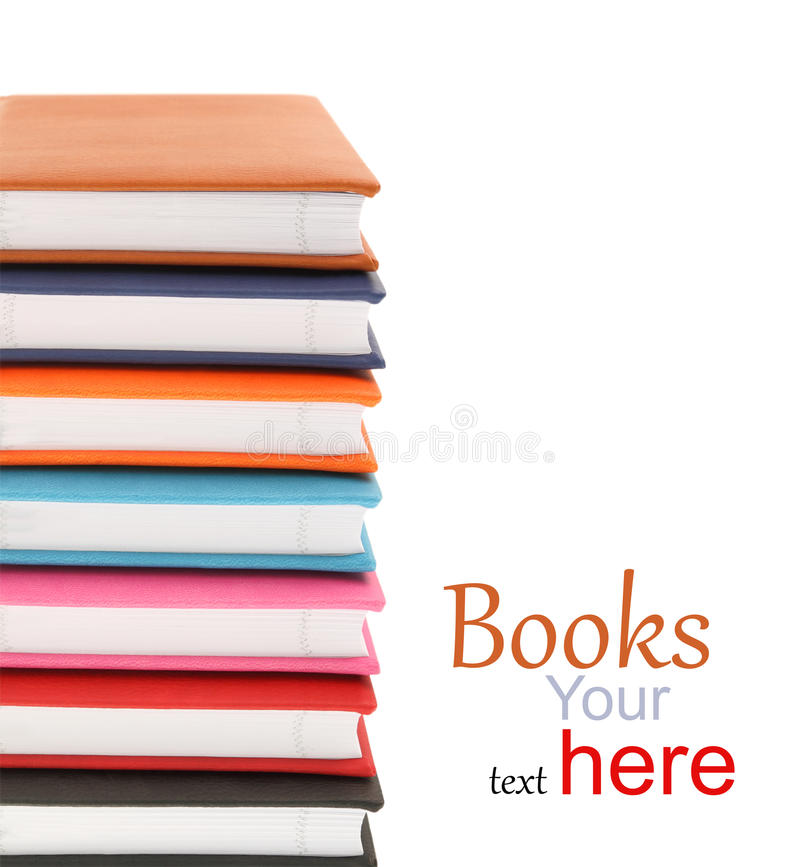 Σωρός των ζωηρόχρωμων βιβλίων στοκ εικόνα