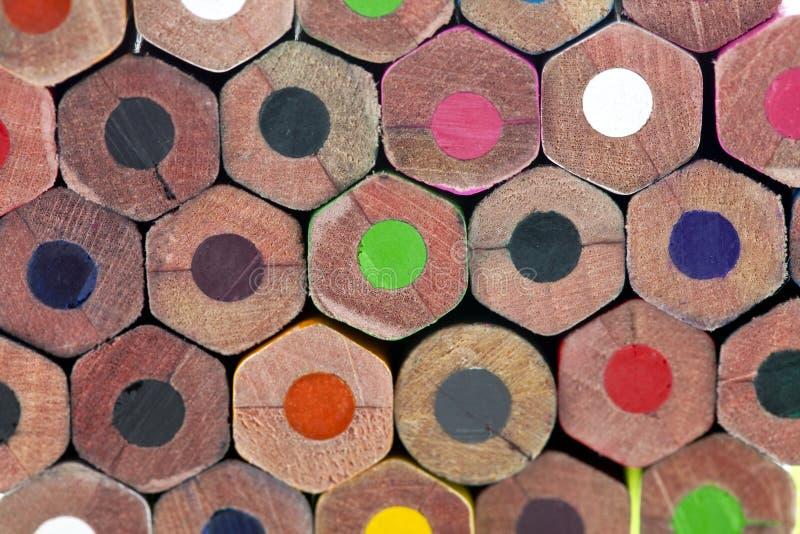 Σωρός των ζωηρόχρωμων μολυβιών στοκ εικόνες