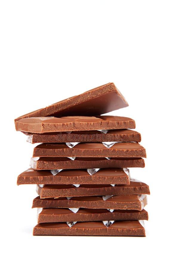 Σωρός των κεραμιδιών σοκολάτας. στοκ εικόνες με δικαίωμα ελεύθερης χρήσης