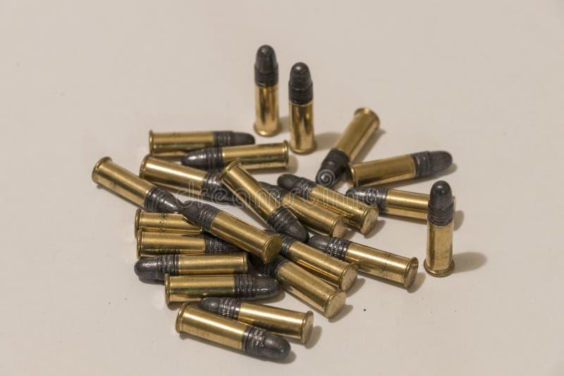 Σωρός των μικρών πυρομαχικών στοκ εικόνα