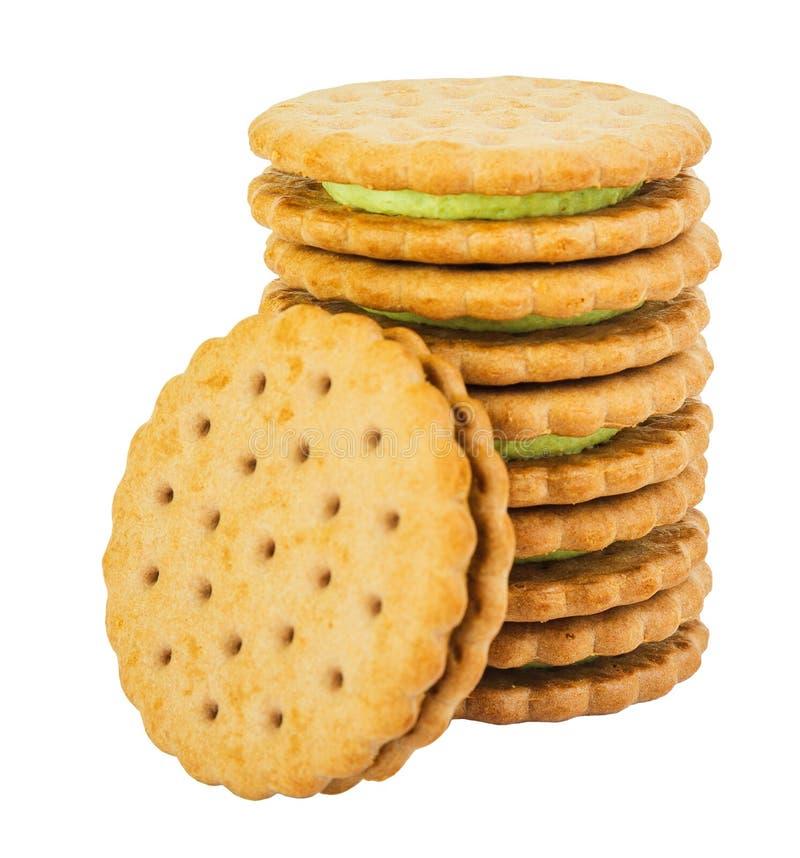 Σωρός των μπισκότων με την πλήρωση λεμονιών στοκ φωτογραφίες