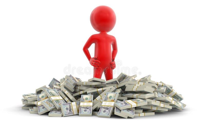 Download Σωρός των δολαρίων και του ατόμου (πορεία ψαλιδίσματος συμπεριλαμβανόμενη) Απεικόνιση αποθεμάτων - εικονογραφία από έγγραφο, δάνειο: 62724272