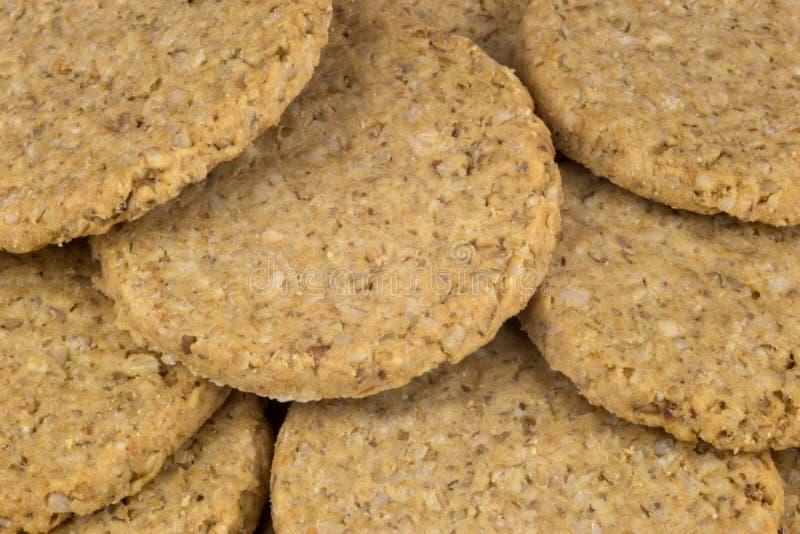 Σωρός των παραδοσιακών σκωτσέζικων Oatmeal μπισκότων στοκ φωτογραφίες με δικαίωμα ελεύθερης χρήσης