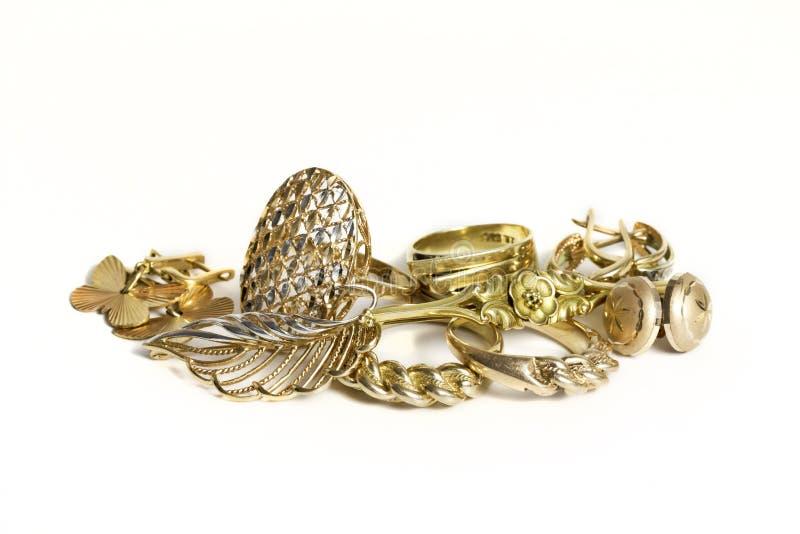 Χρυσά κοσμήματα στοκ εικόνες