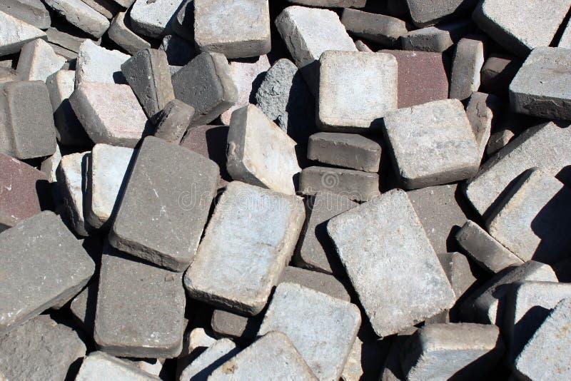 Σωρός των πλακών επίστρωσης και flagstones στοκ εικόνες