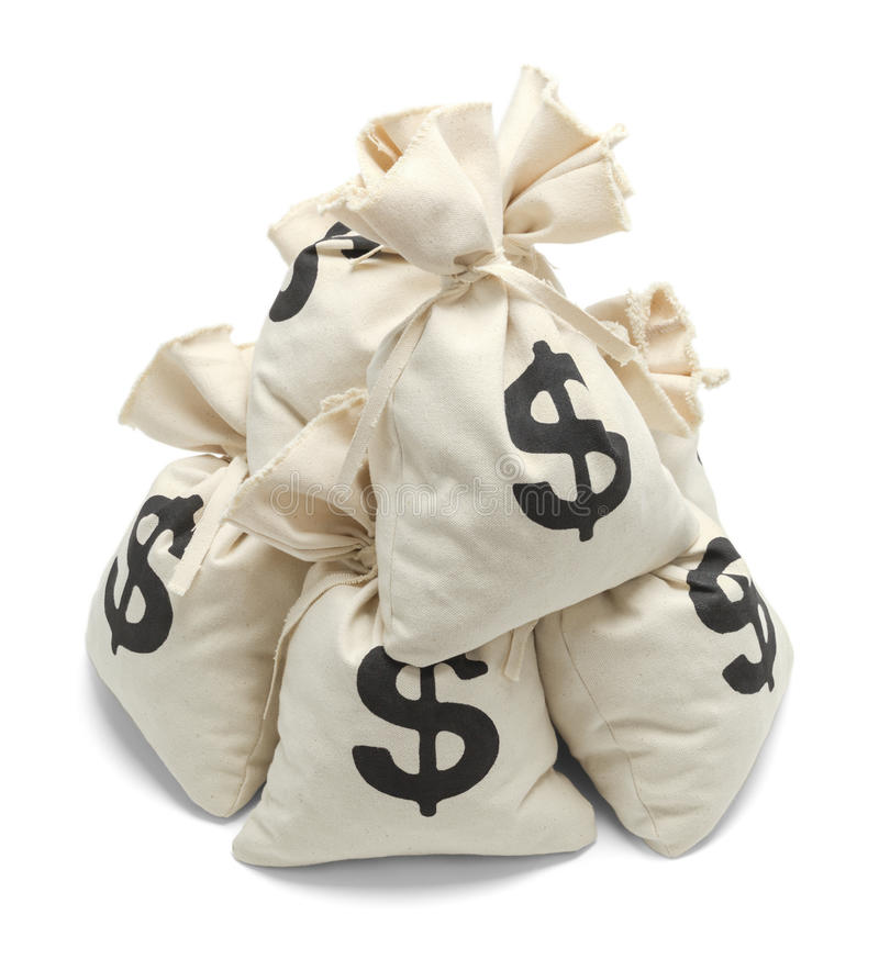 Σωρός των τσαντών χρημάτων στοκ φωτογραφία με δικαίωμα ελεύθερης χρήσης