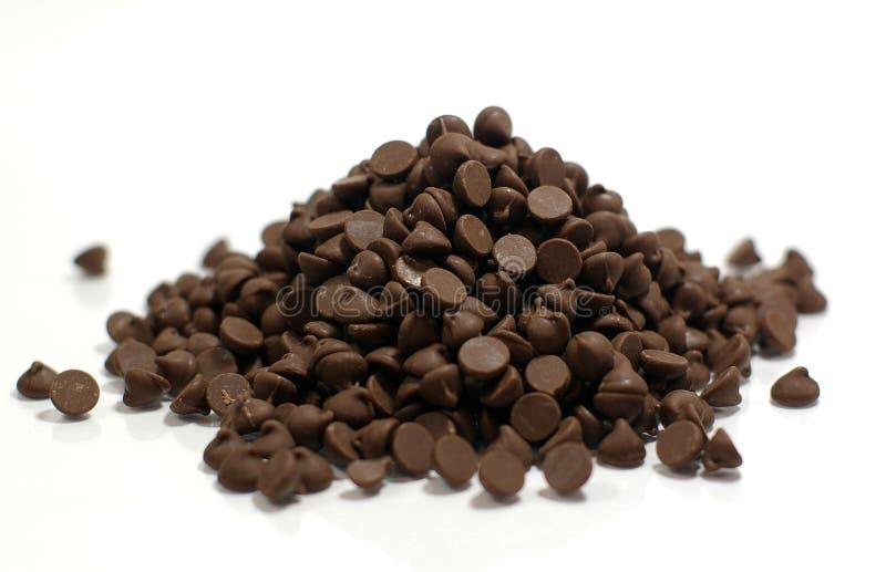 Σωρός των τσιπ σοκολάτας στοκ εικόνα με δικαίωμα ελεύθερης χρήσης