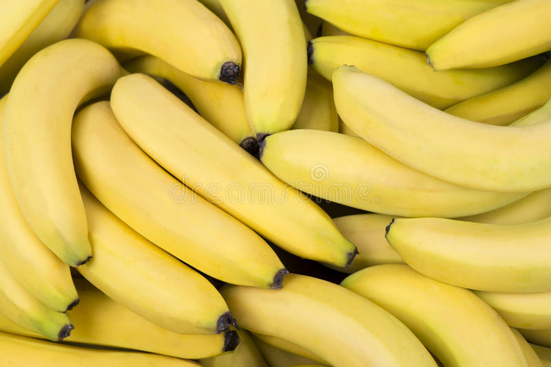 Σωρός των φρέσκων μπανανών στοκ εικόνα