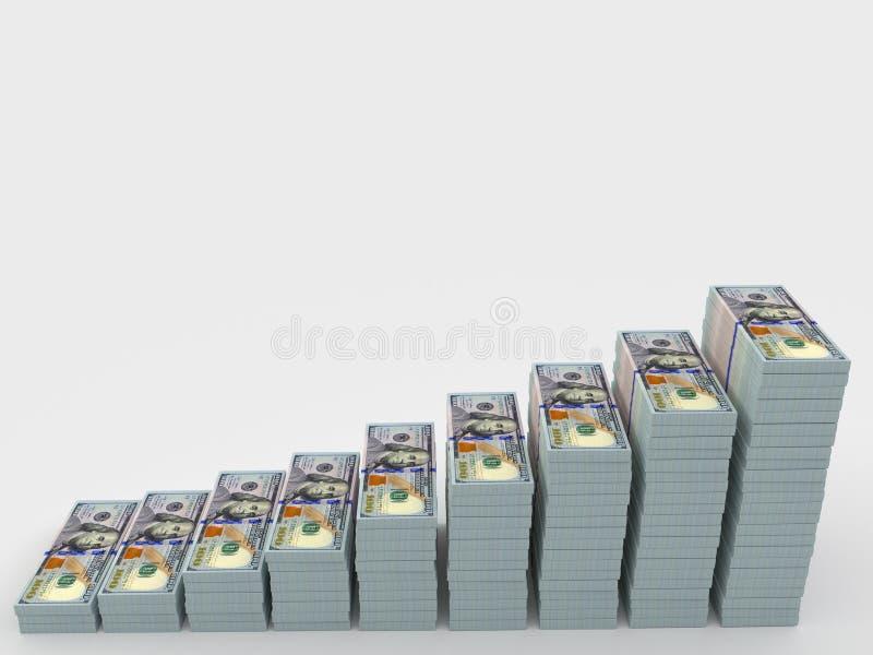 Σωρός χρημάτων με το κενό διάστημα για το κείμενο χρήματα χρηματοδότησης εννοιών υπολογιστών ελεύθερη απεικόνιση δικαιώματος