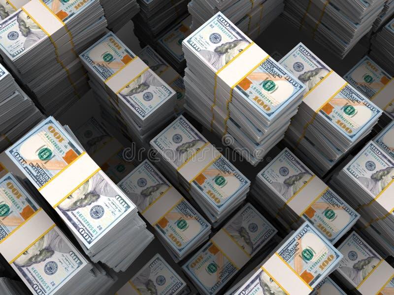 Σωρός χρημάτων απεικόνιση αποθεμάτων
