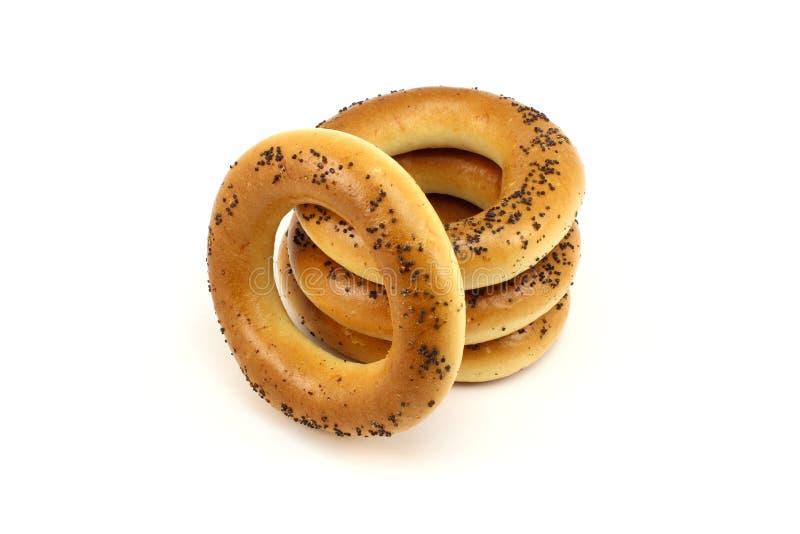 Σωρός bagels παπαρουνών στοκ εικόνες με δικαίωμα ελεύθερης χρήσης