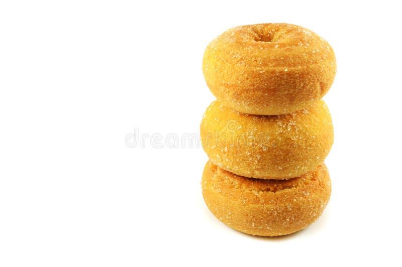 Σωρός doughnut τρία στοκ εικόνες
