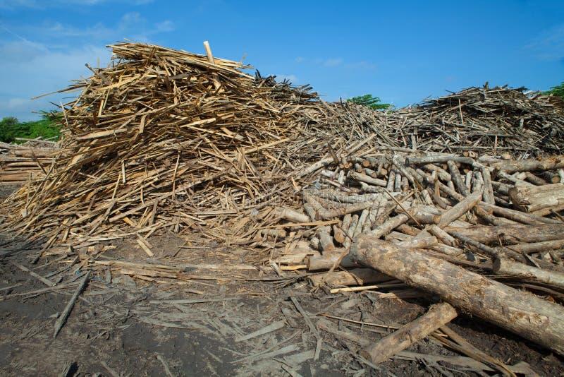 Σωρός teak πλακών του ξύλου στοκ εικόνα με δικαίωμα ελεύθερης χρήσης