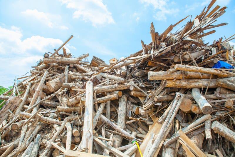 Σωρός teak του ξύλινου κούτσουρου στοκ φωτογραφίες