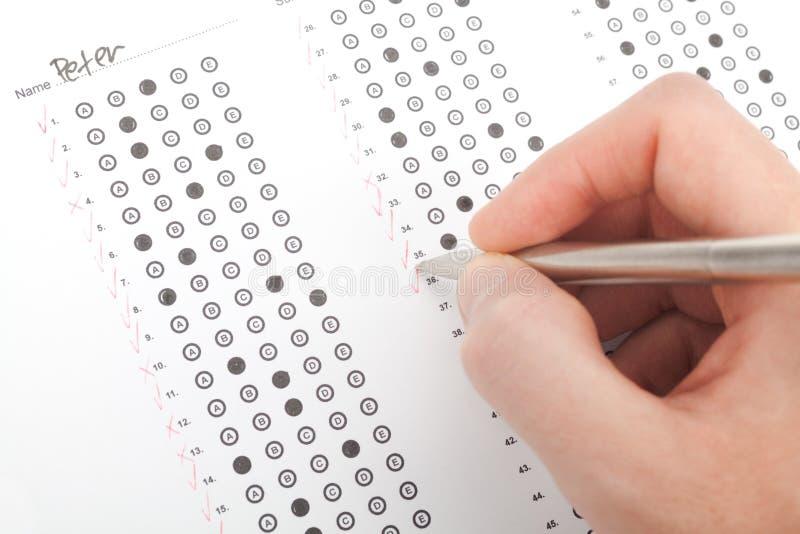 Σωστή δοκιμή δασκάλων στοκ φωτογραφία με δικαίωμα ελεύθερης χρήσης