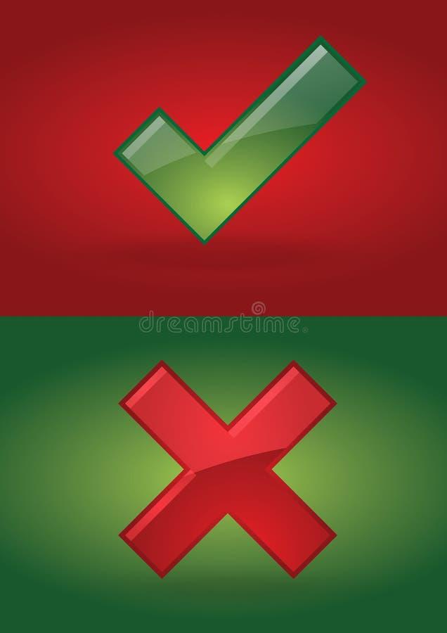 σωστός λανθασμένος απεικόνιση αποθεμάτων