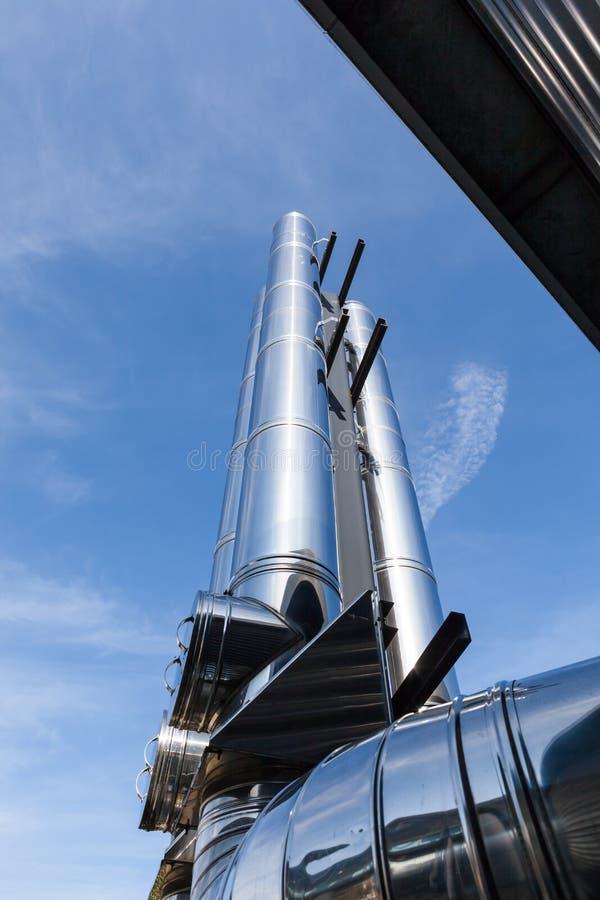Σωλήνας καπνοδόχων Inox στοκ φωτογραφία με δικαίωμα ελεύθερης χρήσης
