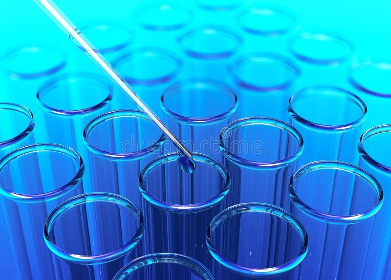 Σωλήνας δοκιμής, έννοια της επιστημονικής έρευνας απεικόνιση αποθεμάτων