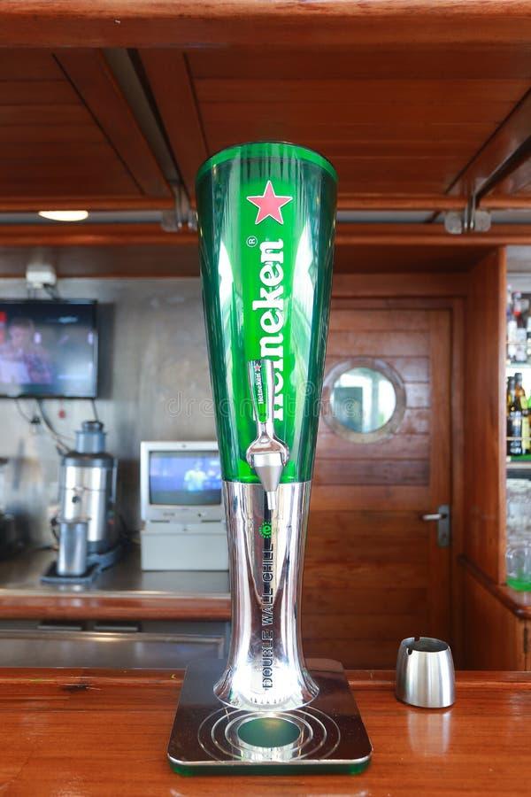 Σωλήνας της Heineken στοκ εικόνα με δικαίωμα ελεύθερης χρήσης