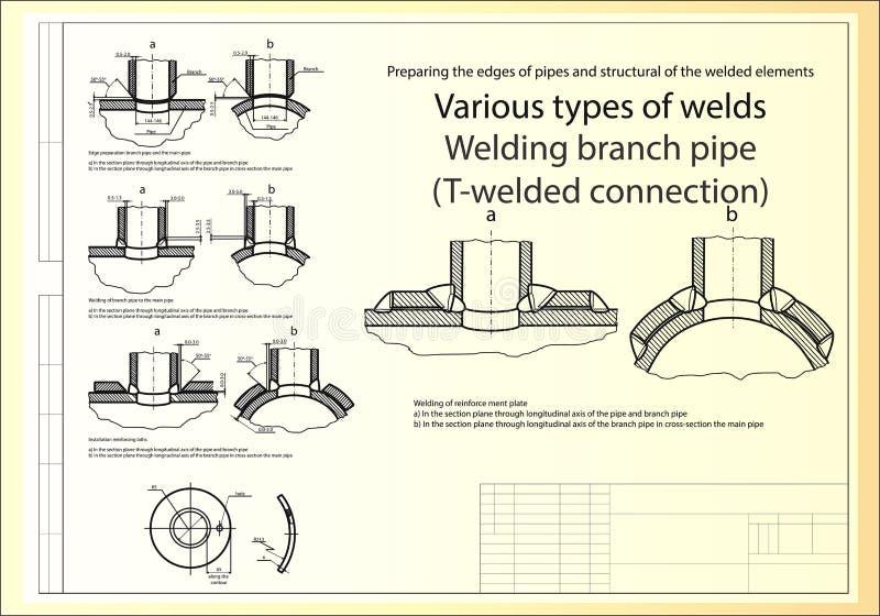 Σωλήνες κλάδων συγκόλλησης διανυσματική απεικόνιση